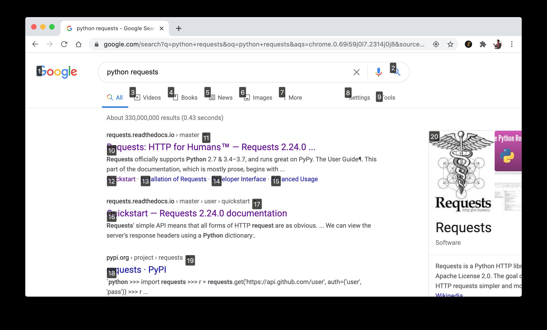 Chrome Links Overlay
